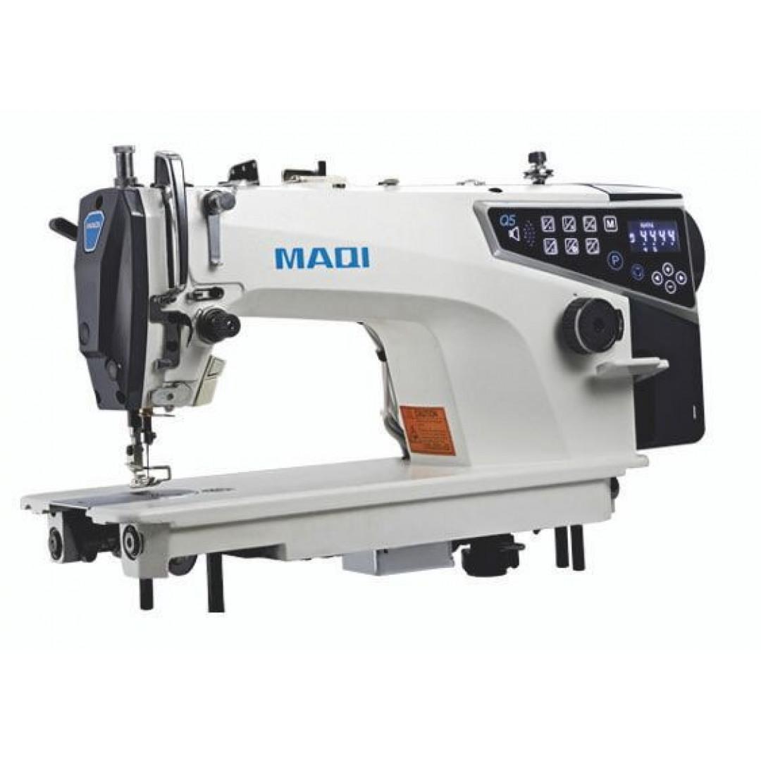 MAQI Q5S-M-4N-II промислова швейна машина з автоматичними функціями та мікростібком перед обрізкою нитки
